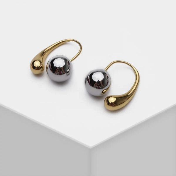 Boutique Designer Stud Earrings with Mirror Beads