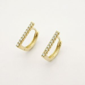 Genuine 9k Real Gold Earrings with Cubic Zirconia