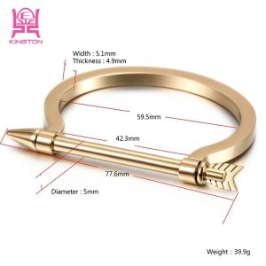 Gold Plated Stainless Steel Arrow Bracelet One Size