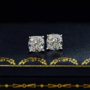 Sparkling Sterling Silver Classic Square Studs